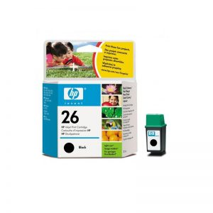 HP 26 Black Original Ink Cartridge Oem Pack (51626A)