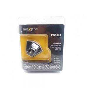 Maxpro PS1041 4-Port USB Hub With Power Adaptor