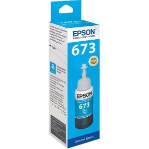 Epson 673 (T6732) Cyan 70ML Genuine Ink Bottle (C13T673200)