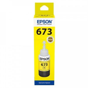Epson 673 (T6734) Yellow 70ML Genuine Ink Bottle (C13T673400)