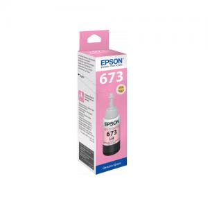 Epson 673 (T6736) Light Magenta 70ML Genuine Ink Bottle (C13T673600)