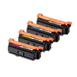 Laser Toner Cartridge 507A 4 Color (CE400A CE401A CE402A CE403A) Compatible For HP Color LaserJet Enterprise 500 M551dn 575dn Printer