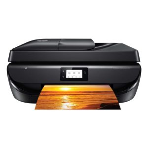 Unboxed HP DeskJet 5275 All-In-One Ink Advantage WiFi Printer (FAX/ADF/Duplex Printing (Black) with Voice-Activated Printing (Works with Alexa and Google Assistant)