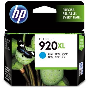 HP 920XL High Yield Cyan Original Ink Cartridge (CD972AA)