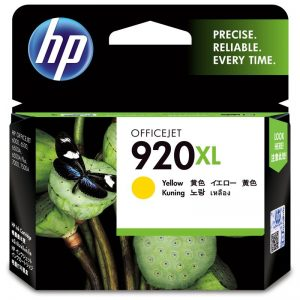 HP 920XL High Yield Yellow Original Ink Cartridge (CD974AA)