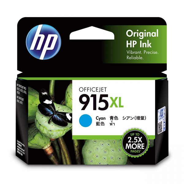 HP 915XL High Yield Cyan Original Ink Cartridge (3YM19AA)