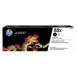 HP 88X High Yield Black Original LaserJet Toner Cartridge (CC388X)