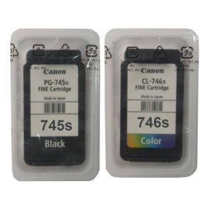 Canon PG-745 Small Black CL-746 Small Tri-Color Original Ink Cartridge Set (OEM Pouch Pack)