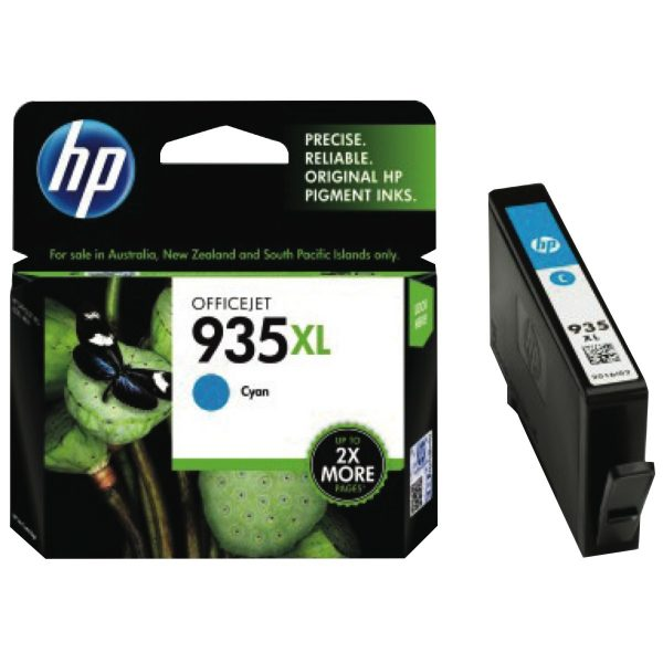 HP 935XL High Yield Cyan Original Ink Cartridge (C2P24AA)