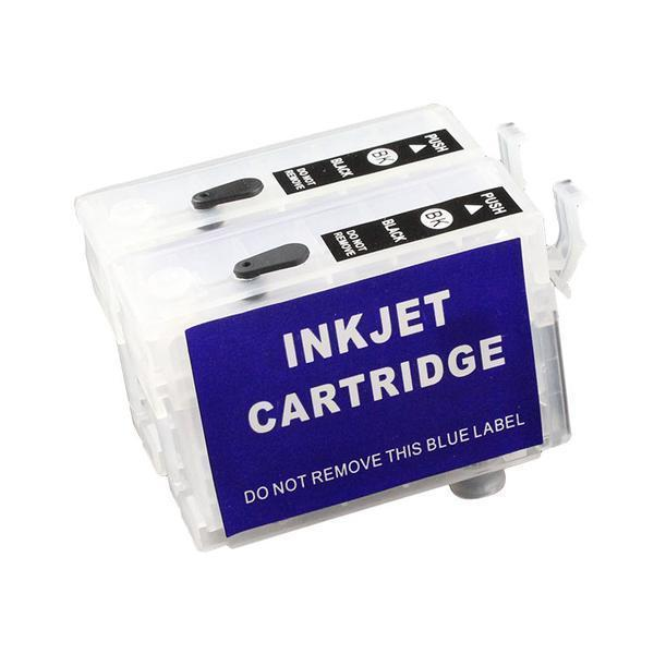 Max T137 Refillable Cartridge Without Ink For Epson K100 K200 K300 Printer (2 Cartridge Pair)