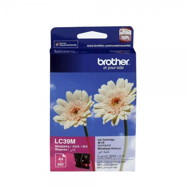 Brother LC39M Magenta Ink Cartridge (Original Box Pack)
