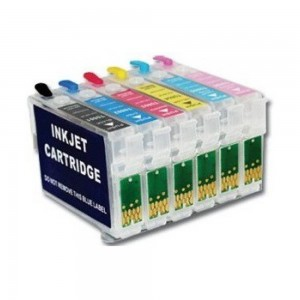 Max 82N T0821-T0826 Refillable Ink Cartridge Set Without Ink For Epson TX-700W Printer