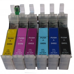 Max Empty Refillable 49 Ink Cartridge For Epson R210 R230 R310 Printer