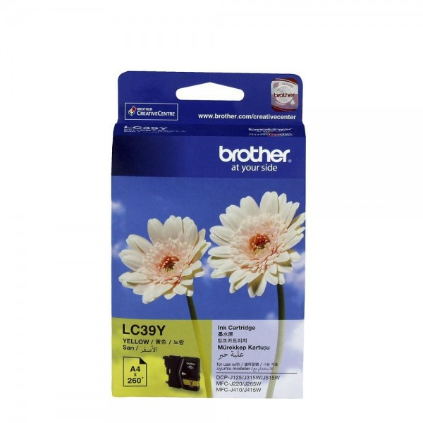 Brother LC39Y Yellow Original Ink Cartridge (Original Box Pack)